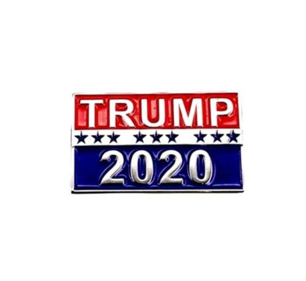 Trump 2020 pin patriotic republican party campaign metal pin rai ed lettering