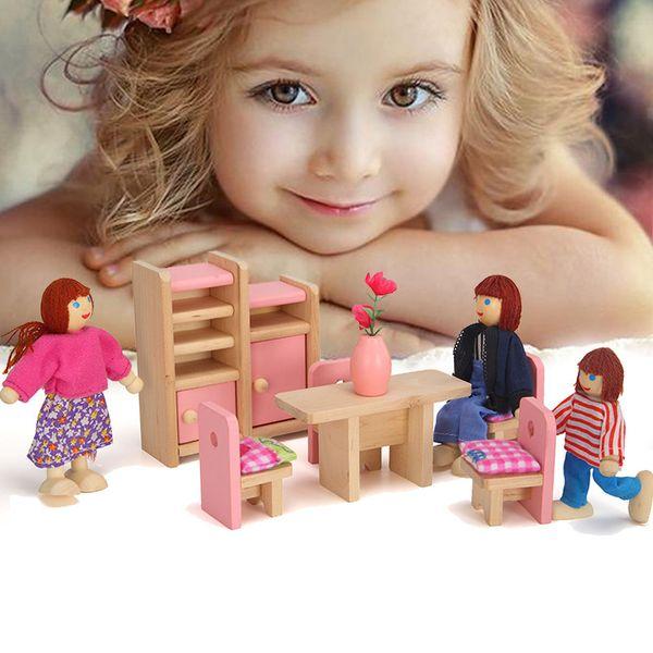Играть Дом игрушки Розовый Малые Мебель Кухня Детская Обучение Обучающие игрушки Играть Мебель игрушки. фото