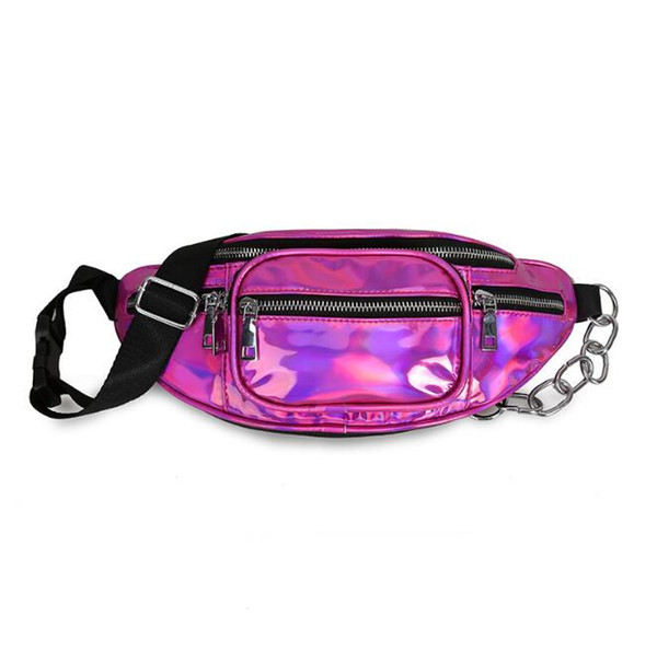 wholesale handbags purses pu wholesale women waist bag new fashion crossbody bag laser shoulder bags (546346094) photo