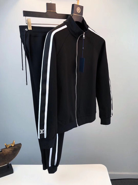 2019 fall and winter designer mens high quality tracksuits chinese size sweatsuit ~ tops mens training jogging sweat track suits