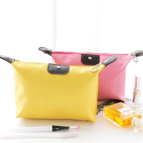 Водонепроницаемый макияж сумка для женщин большой емкости клецки сумка Сумка для хранения путешествия косметические сумки 8 цветов смешанные фото