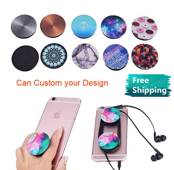Mobile phone holder air bag uv printing cu tom logo de ign 360 degree finger holder flexible univer al cell phone holder for iphone  am ung
