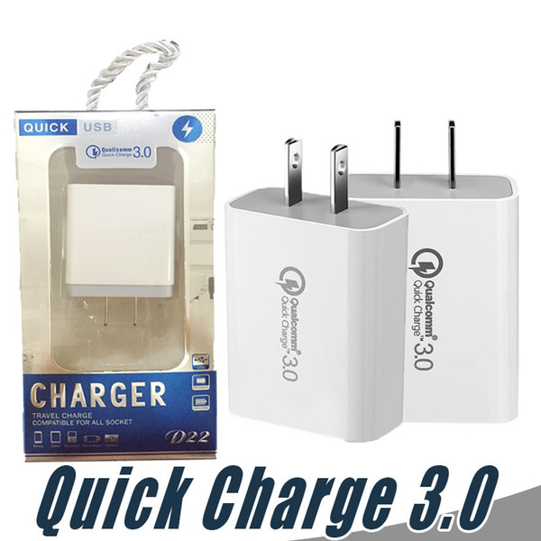 Fa t charging qc3 0 u b charger u  eu 18w quick charger adapter travel wall univer al mobile phone charger for  am ung xiaomi