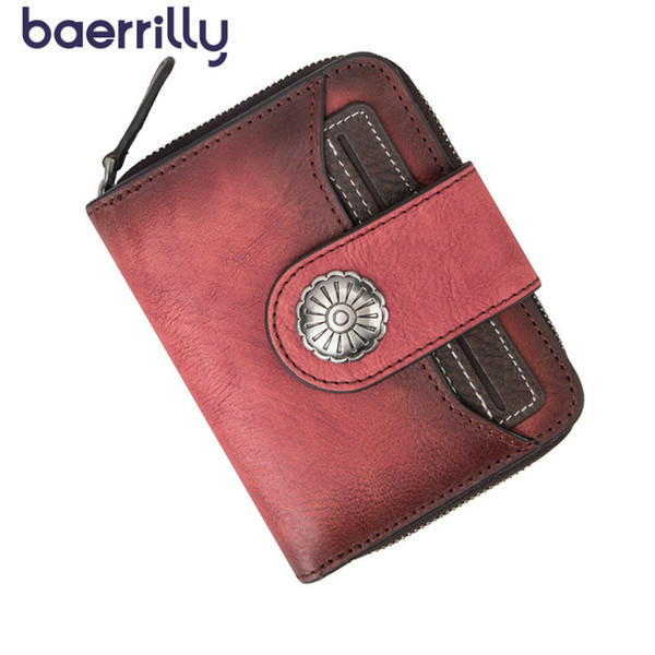 genuine leather women clutch bag fashion women short wallet purse small purses coin purse girl cartera mujer (520281367) photo