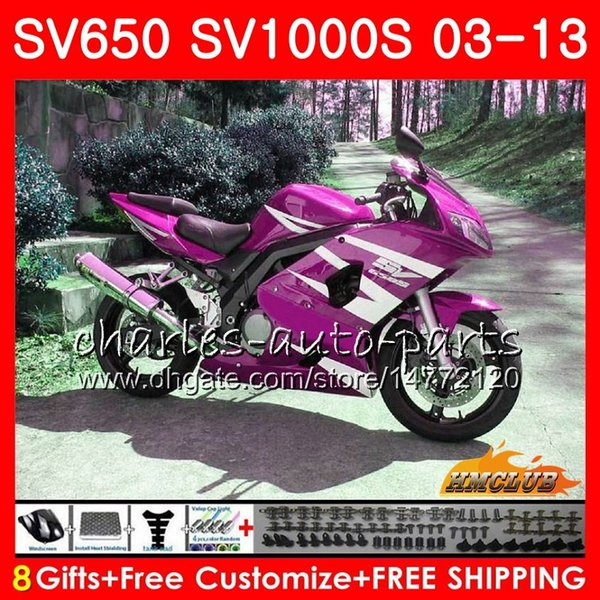 For Suzuki SV1000 SV 1000 2003-2011 Complete Bolt Motorcycle Fairings Clips Kits 1 Set M5 M6
