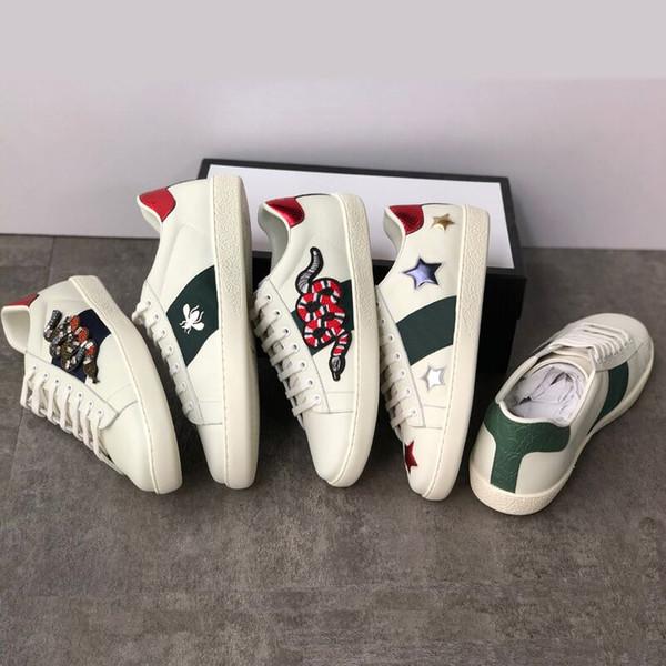 Белые женские повседневные туфли Мужские дизайнерские роскошные кроссовки из на