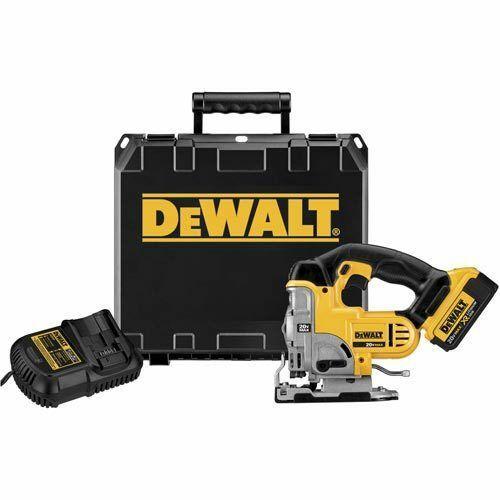 Dewalt dc 331m1 20v max lithium ion cordle jig aw tool kit