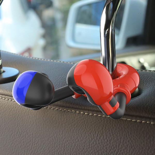 1pc boxing gloves shaped car rear seat hook creative auto back seat hook hanger purse bag holder back organizer holder (509614024) photo