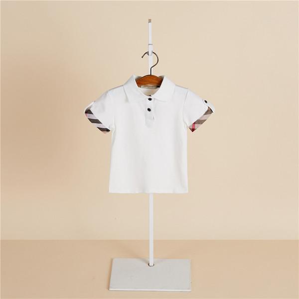 Летние мальчики футболка дети лацкане плед с коротким рукавом рубашки поло мода детская дизайнерская одежда детей хлопка случайные топы