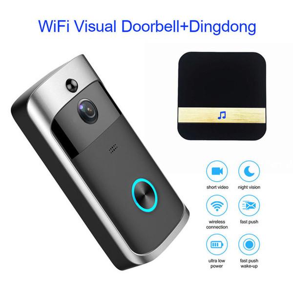Wi-Fi Видео Дверной Звонок С Звонком HD 720 P Камеры Смарт WI-FI Домофон Дверной Звонок Видеозвонок Для Квартиры ИК-Сигнализация Беспроводной Камеры Безопасности