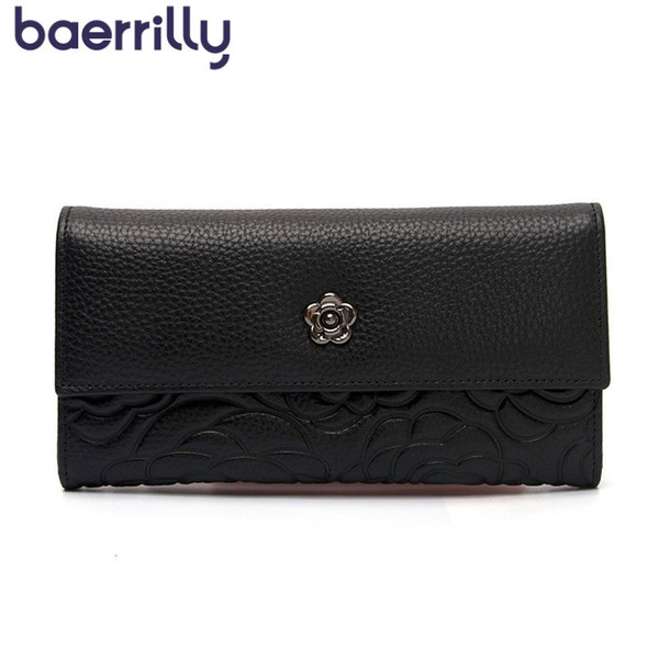fashion genuine leather wallet women wallets with phone case long clutch bags coin purse girl womens wallets and purses carteras (479497982) photo