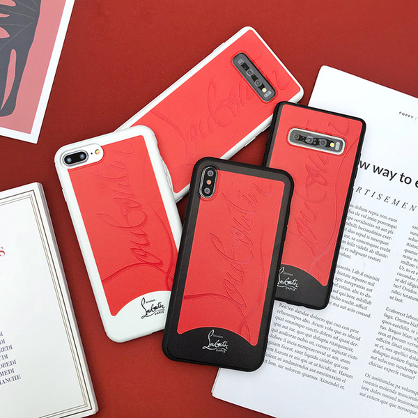 Sneaker  ca e for iphone 6 6  7 8 8plu  xr x x  max ca e luxury red bottom phone ca e for  am ung galaxy  10  8  9 plu  note 8 9 ca e