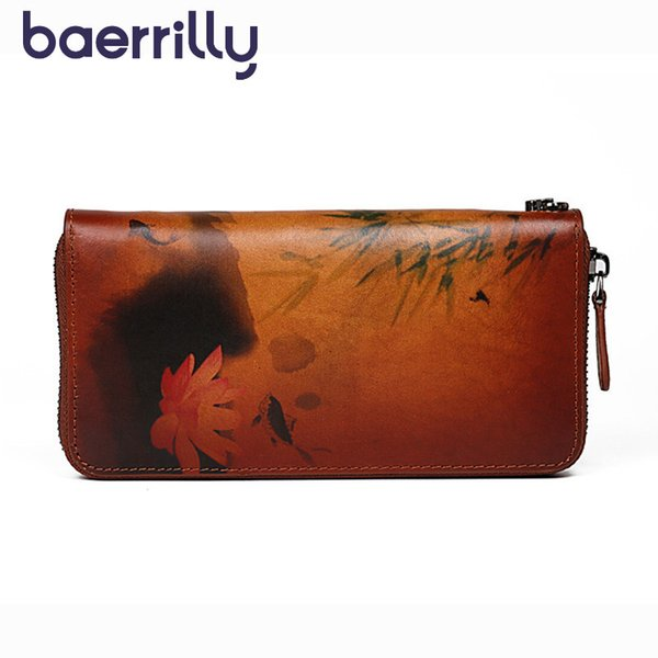 flowers women wallet long clutch bags genuine leather purses and handbags luxury coin purse girl card holder lady phone bag (513249536) photo