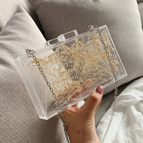ins clear acrylic clutch purse women transparent bag plastic box bag paris girl vintage retro party handbag 2020 new summer (535124019) photo