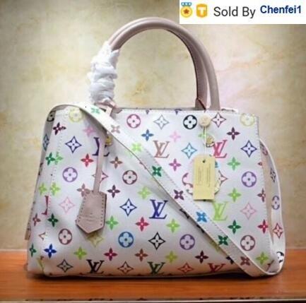chenfei1 i4s7 montaigne m41056 canvas women shoulder bag purse bag hobo handbags handles boston cross body messenger shoulder bags (514407744) photo