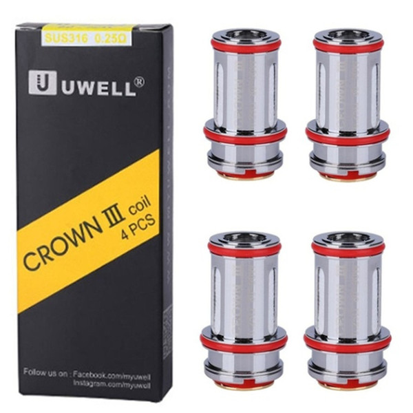 Brand new 4pcs crown iii replacement coils replacement coils tank coil 0.25ohm 0.4ohm 0.5ohm crown iii 3 metal фото