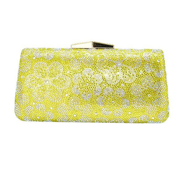 fashion flower crystal clutch handbag and purse bridal wedding box clutch bag designer match wedding bridal party purse handbags (549820250) photo