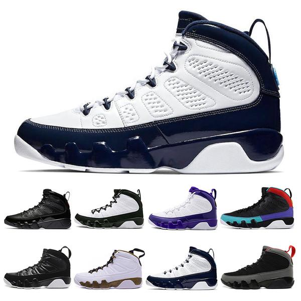 2019 Dream It Do It 9 9s Мужская баскетбольная обувь Антрацит The Spirit Bred Cool Grey UNC PE Спортивная атлетика Кроссовки 7-13