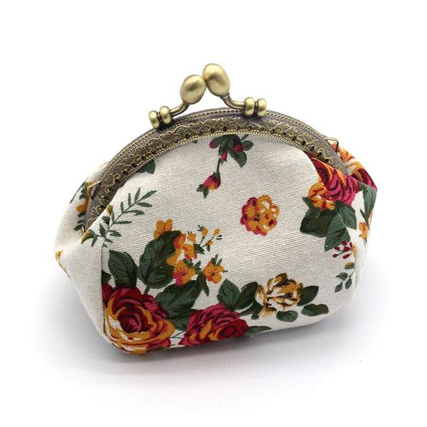 portefeuille, portefeuille vintage lady vintage flower mini purse wallet clutch (483353537) photo