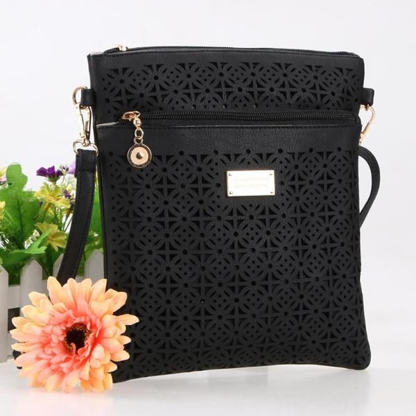 casual women hollow shoulder crossbody bags girls zipper messenger purse (510286182) photo