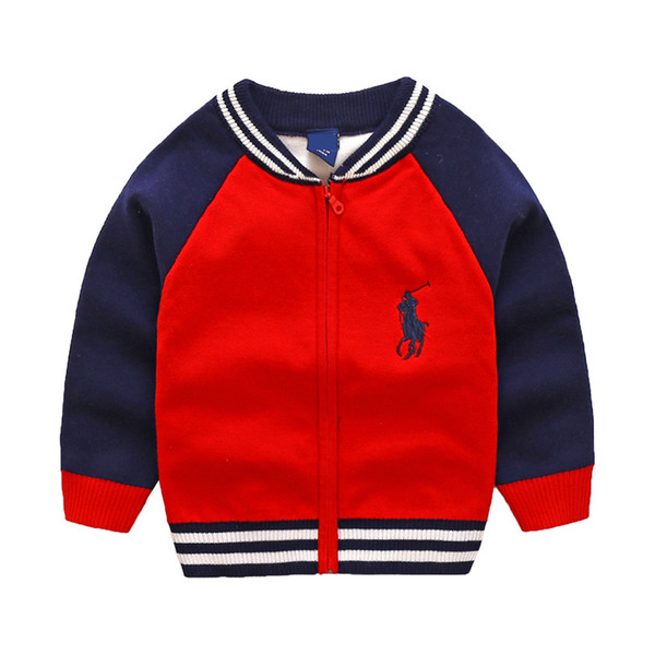 New Children's Top Clothes Cotton Baby Sweater High Quality Kids Outerwear Girl Sweater Boy Sweater V-neck Sweaters Coat