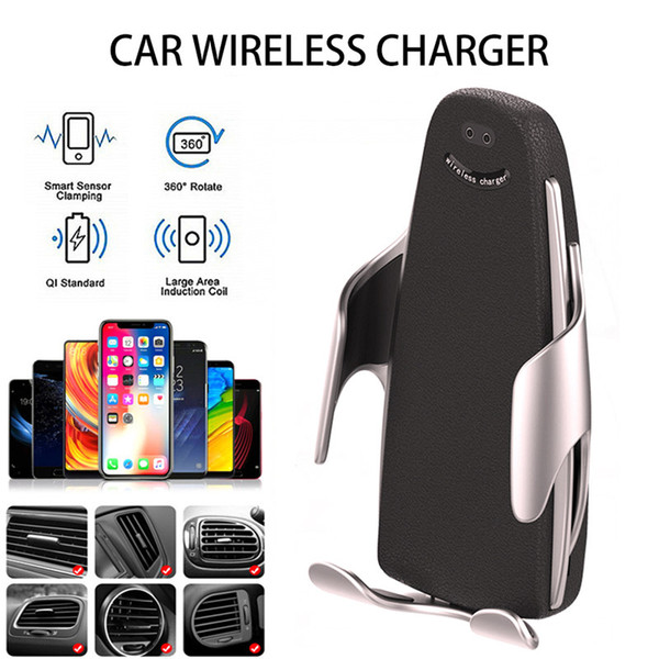 2019 new 10w wirele   car charger  5  automatic clamping fa t charging phone holder car air outlet mobile phone qi wirele   charging