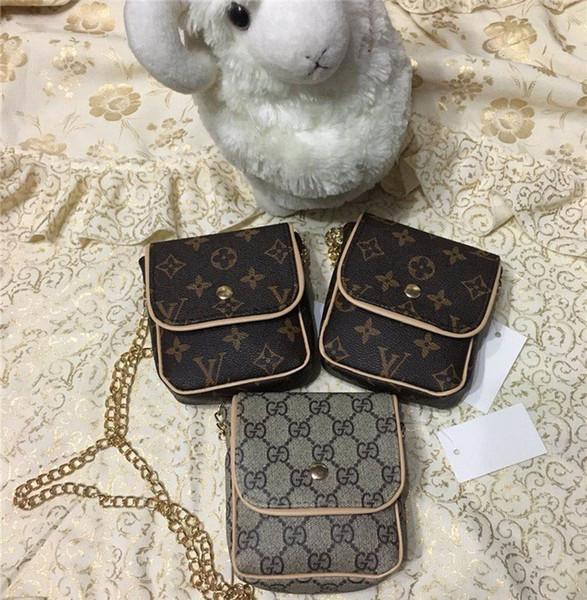 kids baby designer purses fashion girls mini princess purses handbags classic printed chain shoulder bags children coin bags gifts (468500951) photo