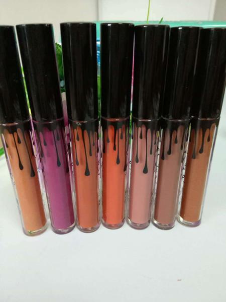 Распродажа 12 цветов Ky Jenner Жидкая губная помада Блеск для губ SET Matte Lip liner Lip Gloss Lip Kit Косметика для губ Макияж Красный бархатный макияж