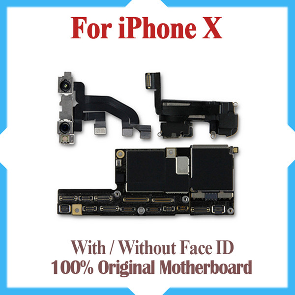 Original motherboard for iphone x 64gb 256gb factory unlocked mainboard with without face id io  update  upport logic board