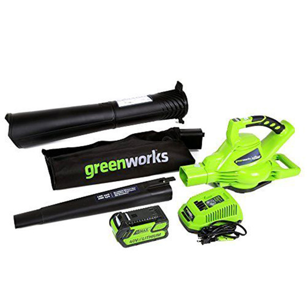 greenworks outdoor garden digipro g-max 40v cordless 185mph blower/vac with 4ah battery charger professional garden tools (505204031) photo