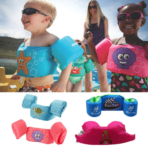 puddle jumper swimming water sports deluxe cartoon life jacket safety vest for kids baby girl children's life jacket