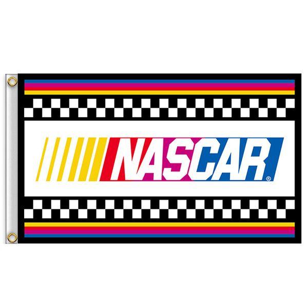 90 * 150 см NASCAR флаг 3x5FT баннер полиэстер для автогонок бар фото