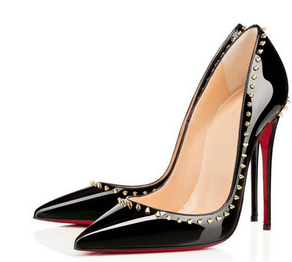 Модные туфли с красной подошвой Новое поступление Туфли на высоких каблуках / Туф фото