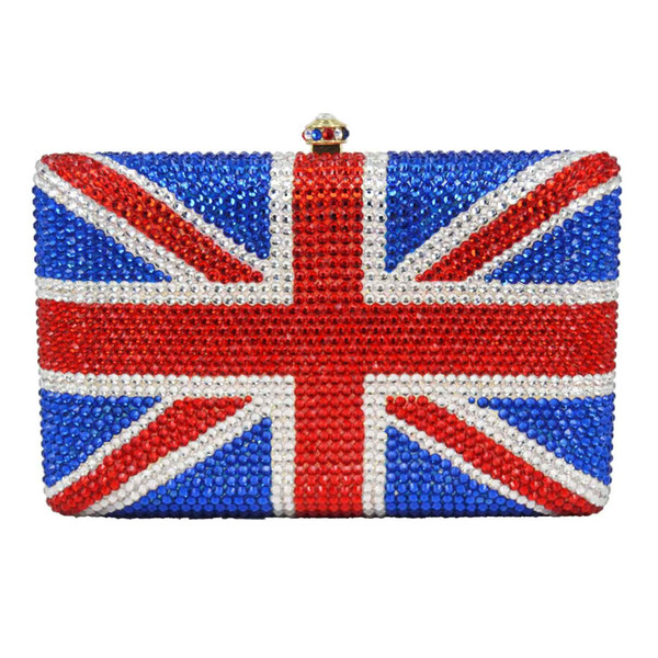 diy kundenspezifische kristallabendtaschen uk flag clutch purse (491752409) photo