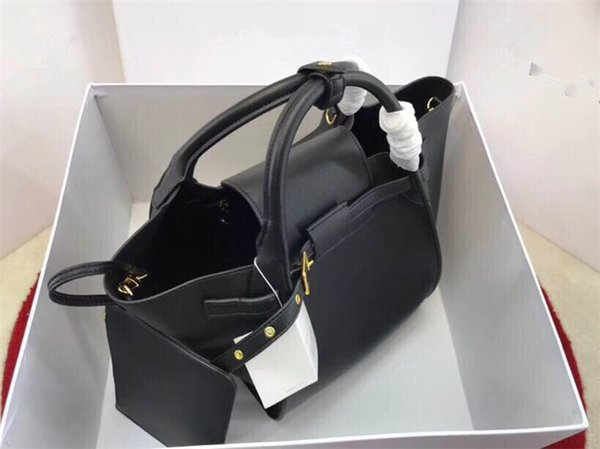 real leather women's large designer handbags fashion ladies bags discount bucket bag purse online 2019 (460364407) photo