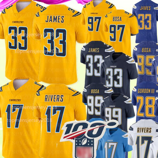 33 derwin jame  17 philip river  jer ey new lo  angele  charger  jer ey 97 joey bo a 28 melvin gordon football jer ey    xxxl
