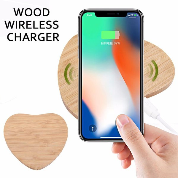 Bamboo wood wirele charger 5v1a qi wirele charger for iphone 8 x x max xr 9 plu wirele charging eat