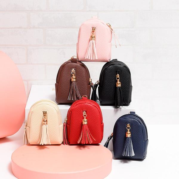 mini tassel coin purse new key storage bag small wallet ladies purse pu leather handbag wallet woman (459750119) photo