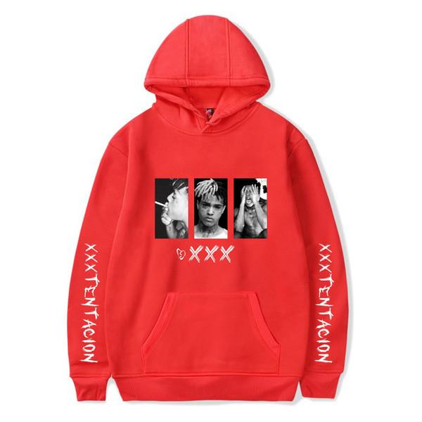 Случайные удобные хип-хоп с капюшоном толстовки певица XXXTentacion печати хлопок мате