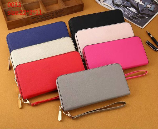 woman long wallet pu leather purse famous zipper wallet women quality female wristband purse (501283629) photo