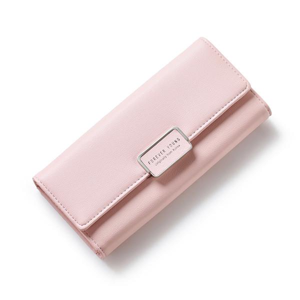 women wallet brand simple elegant pu leather women purse female long wallet lady large clutch purse (458892646) photo