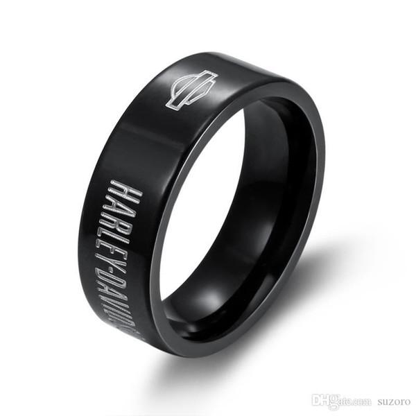 Модные мужские и женские высококачественные кожаные кольца из нержавеющей стали, креативные кожаные кольца, черные кожаные кольца фото