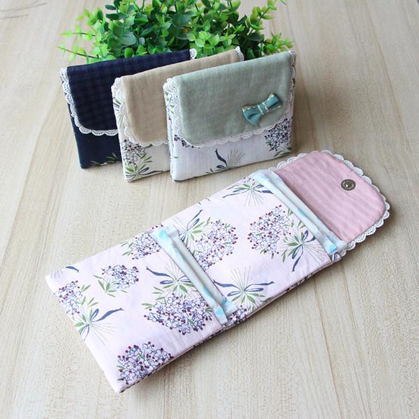 women flower pattern sanitary pad organizer purse napkin towel storage bags cosmetic pouch case sanitary napkin bag girl (507605808) photo