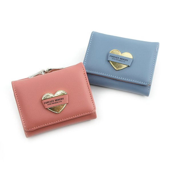 new girls small wallet student coin purse three fold coin bag ladies short wallet purse (520623300) photo