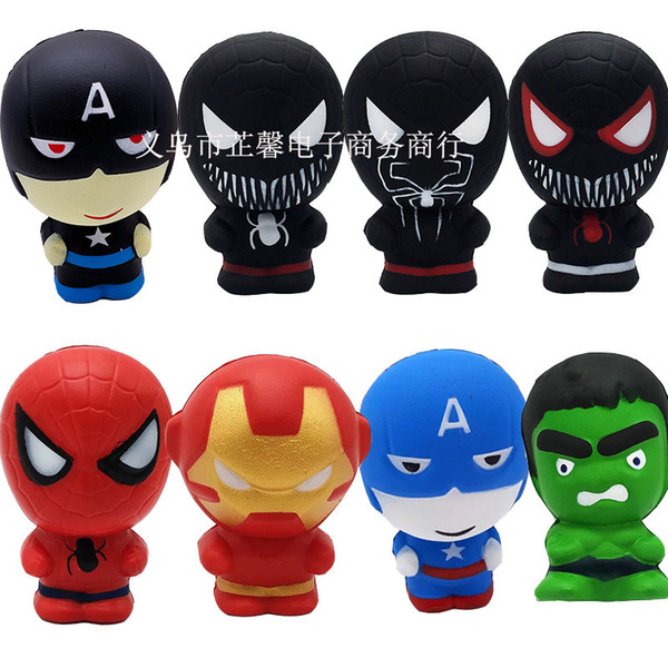 Squi hy cartoon character qui hy phone pendant low ri ing captain america hulk piderman iron man qui hie 11cm
