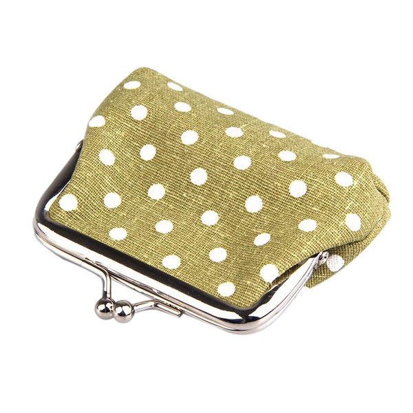cute girl mini purse polka dots pattern coin change key pouch snap closure (480498312) photo