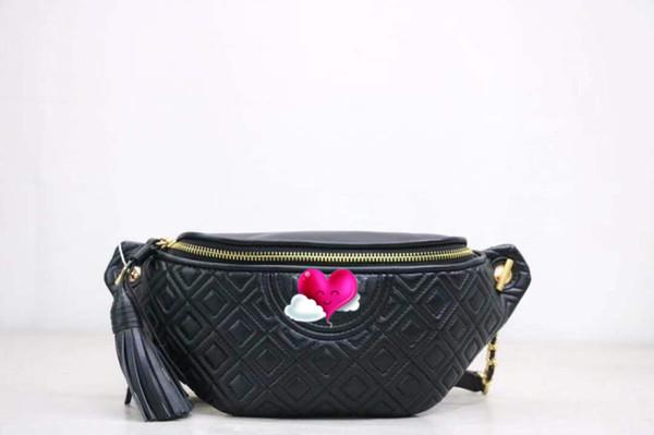 Известный модный бренд Wowen Поясная сумка Fleming Belt Мягкая овечья кожа со стеганой ки