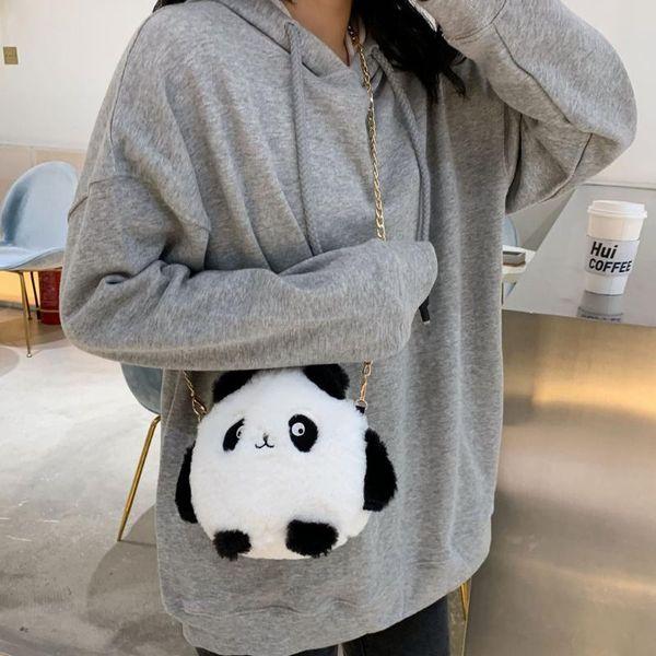 women mini cute plush bag girl shoulder animal pattern handbag girl cute shoulder bag bolsa feminina bags for women 2020 purse (523225168) photo