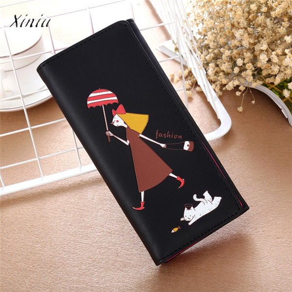 cartoon pattern purse women 2018 brand girl coin purse long wallet card holders handbag lovely clutch carteira feminina (483587024) photo