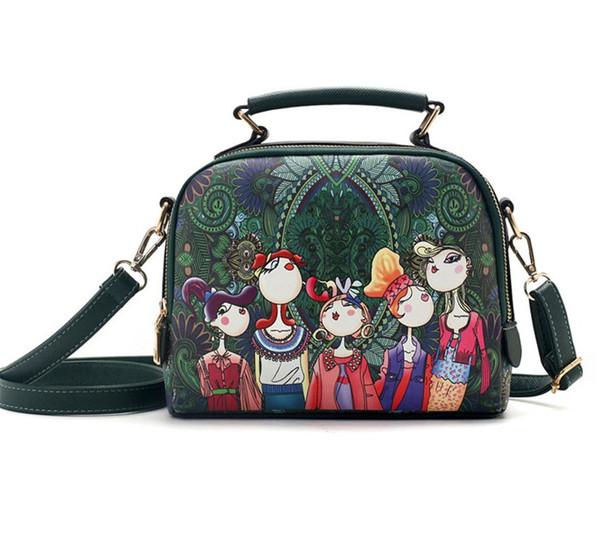 Сумочка женская сумка Роскошные Сумки женские сумки дизайнерская высококачественная печать кожаная мода Женская сумка-мессенджер Современная семья Сен фото